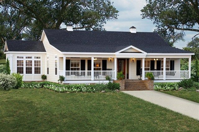 Single Story Home With Wrap Around Porch Google Search Porches