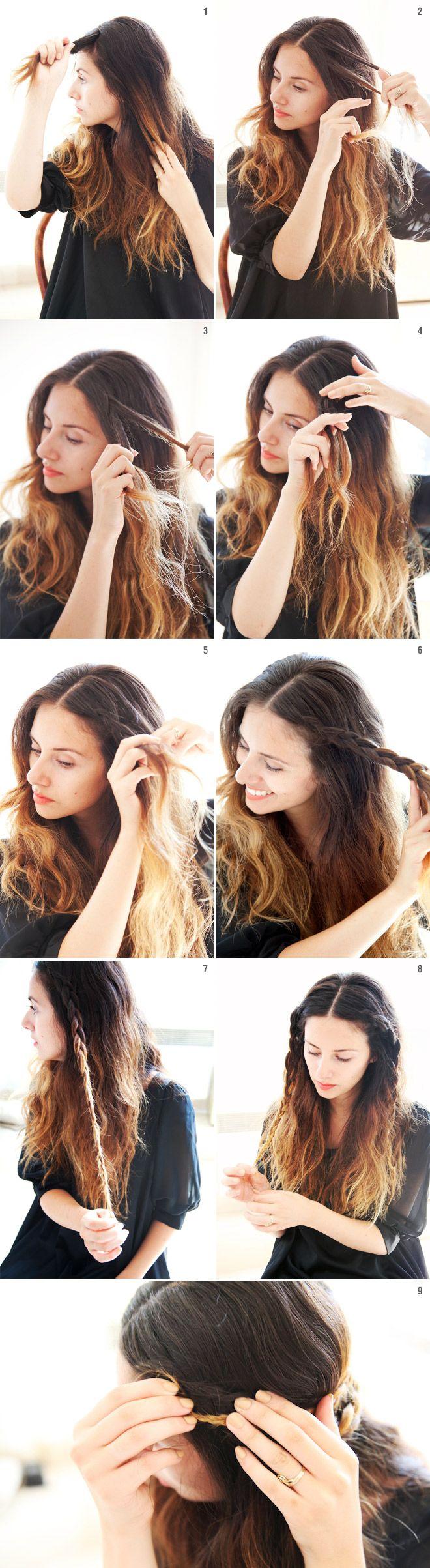 She Lets Her Hair Down Tutorial Mini Crown Braid Hair<3