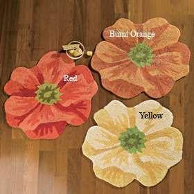flower bath rug  Home Decor