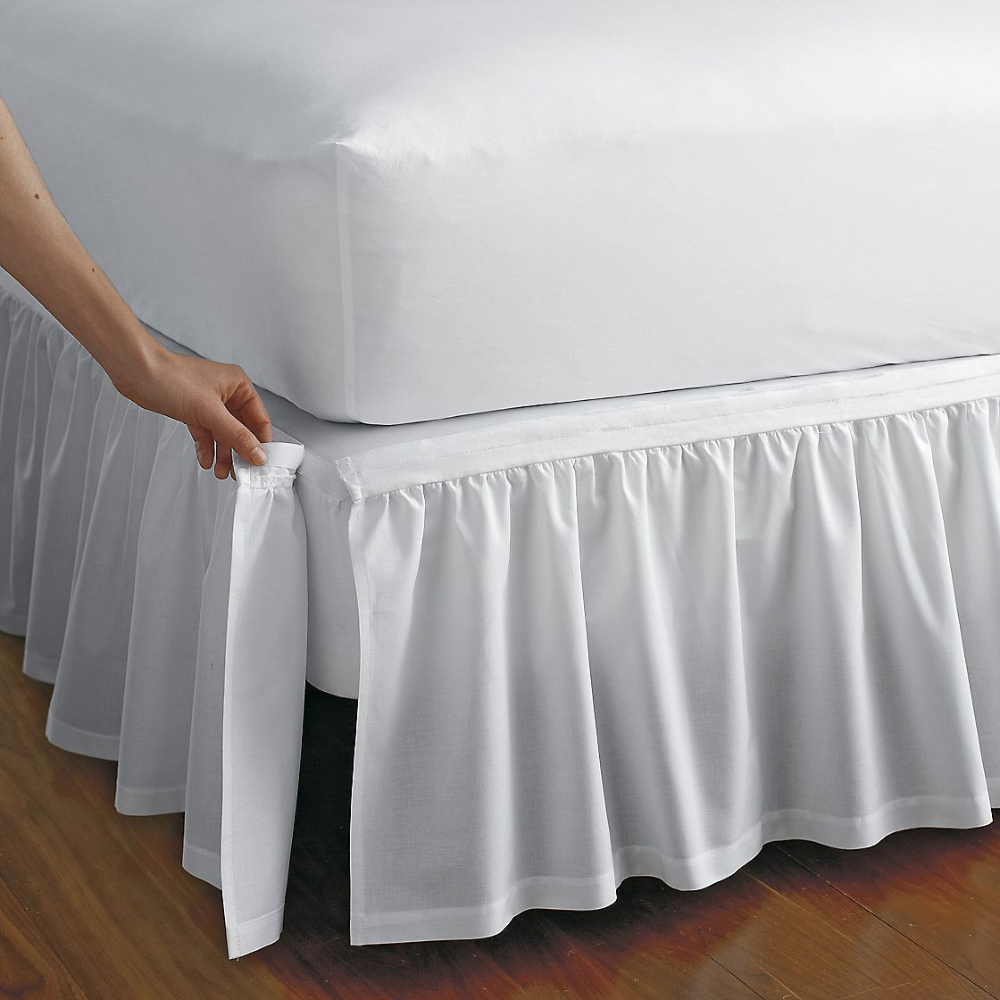 Detachable Gathered Bedskirt What A Great Idea