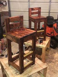 DIY pallet bar stools. | wood | Pinterest | Pallet bar ...