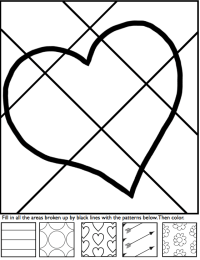 Interactive coloring sheets for Valentine's Day from Art ...