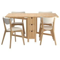 Kitchen And Dining Room Tables Metal Table Sets Norden Nordmyra 4 Chairs Ikea For The Love