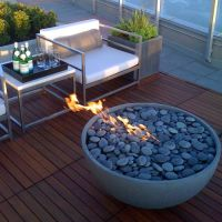 Another option for fire pit filler - Beach Pebble - I'd ...