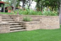Pros: matching capstone over brick steps and wall Cons ...