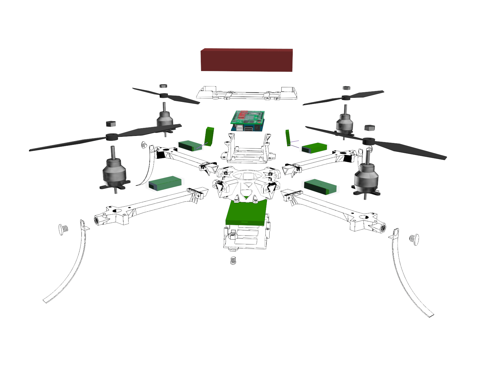 Drone Exploded View