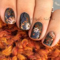 35 Cool Nail Designs to Try This Fall | Flower nail ...