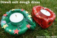 Diwali craft - How to make a simple salt dough diva for ...