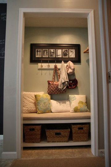 Coat Closet Turned Into Functional Foyer Space We Would