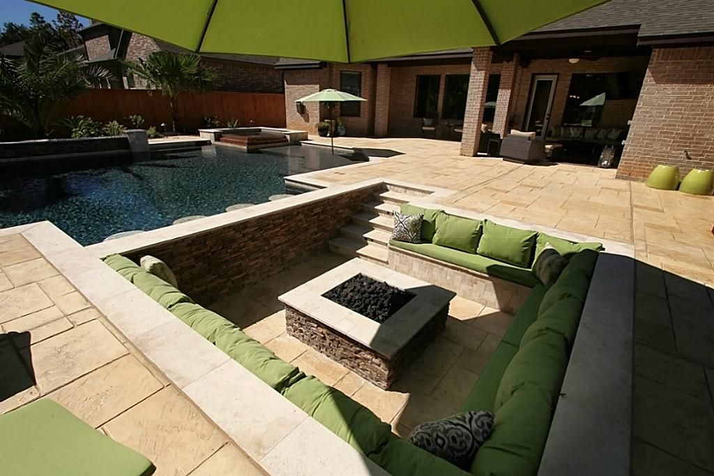 Resort style backyard oasis Relax by the pool in the
