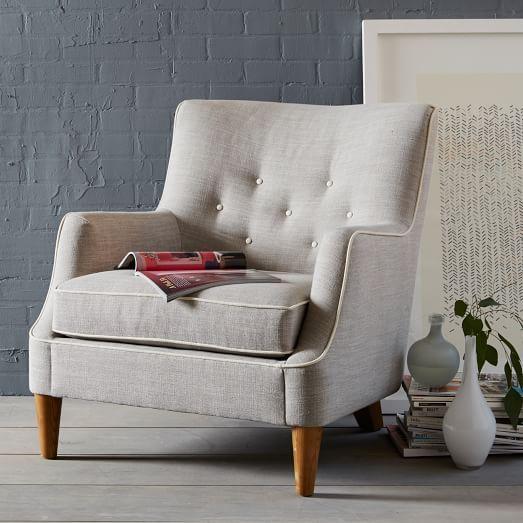 Livingston Chair Contrast Trim West Elm