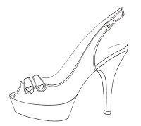Printable High Heel Stencil 1000+ images about shoe