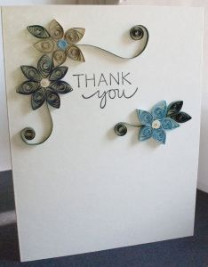 Handmade thank you card with paper quilled flowers also the best images about quill cards on pinterest rh in