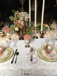 Vintage table setting | Vintage Tablescapes | Pinterest ...