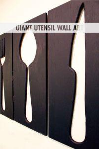 Giant Utensil Wall Art | Utensils, Tutorials and Dining ...