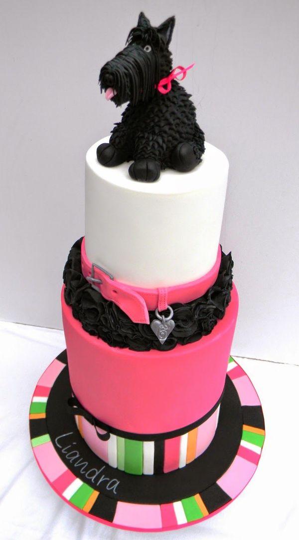 Scottie Dog Birthday Cake