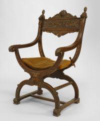 Italian Renaissance seating chair/arm chair walnut |  ...