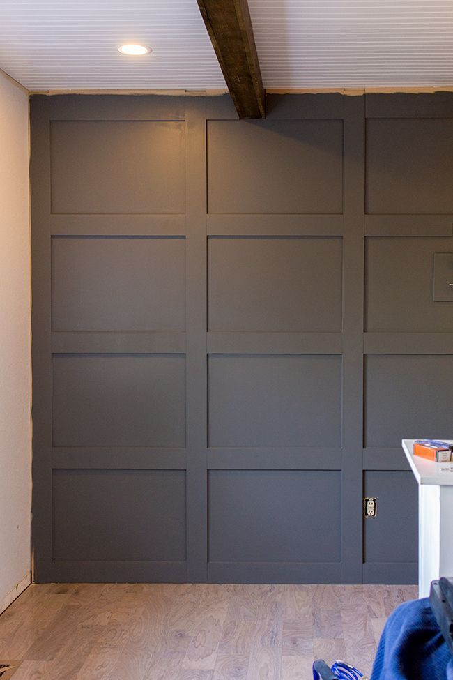 DIY Paneled Wall for under 100 covers textured wall too