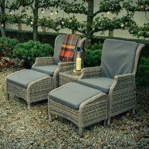 Garden Furniture Set Reclining Chairs - Home Decor