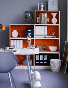 Home office decor ideas and styled painted bookcase good idea for different colors also beautiful love the color scheme simplicity rh pinterest