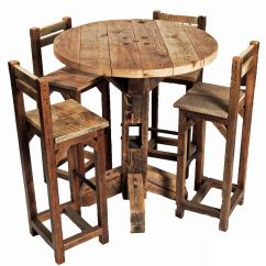 High Table And Chairs For Kitchen Wedding Poland 1939 Furniture Old Rustic Small Round Top