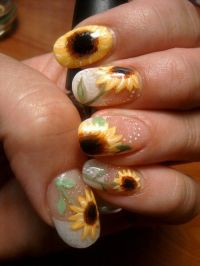 15 Sunflower Nail Designs for the Season | Index finger ...