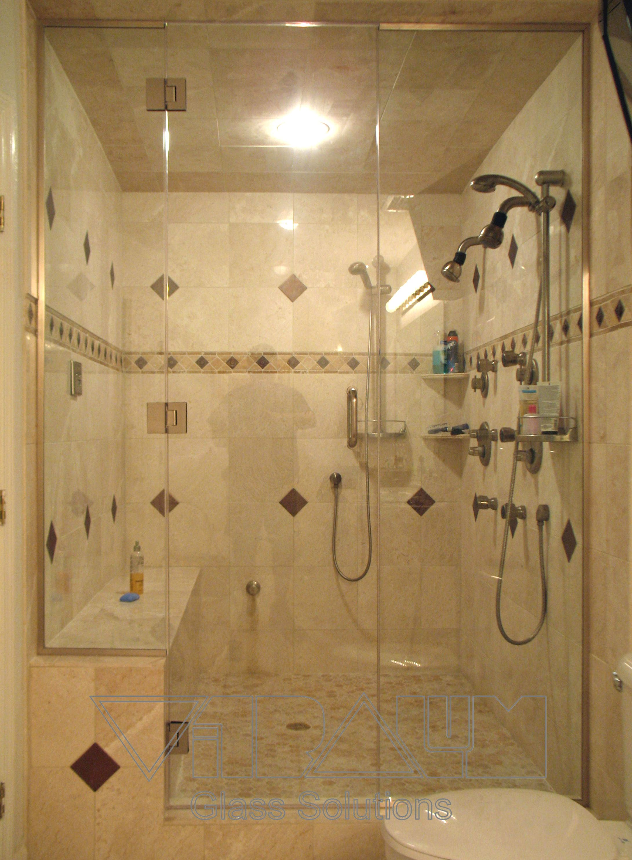 Exquisite Frameless Shower Sliding Doors Shower Room with