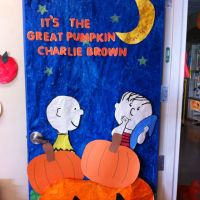 It's The Great Pumpkin Charlie Brown classroom door ...