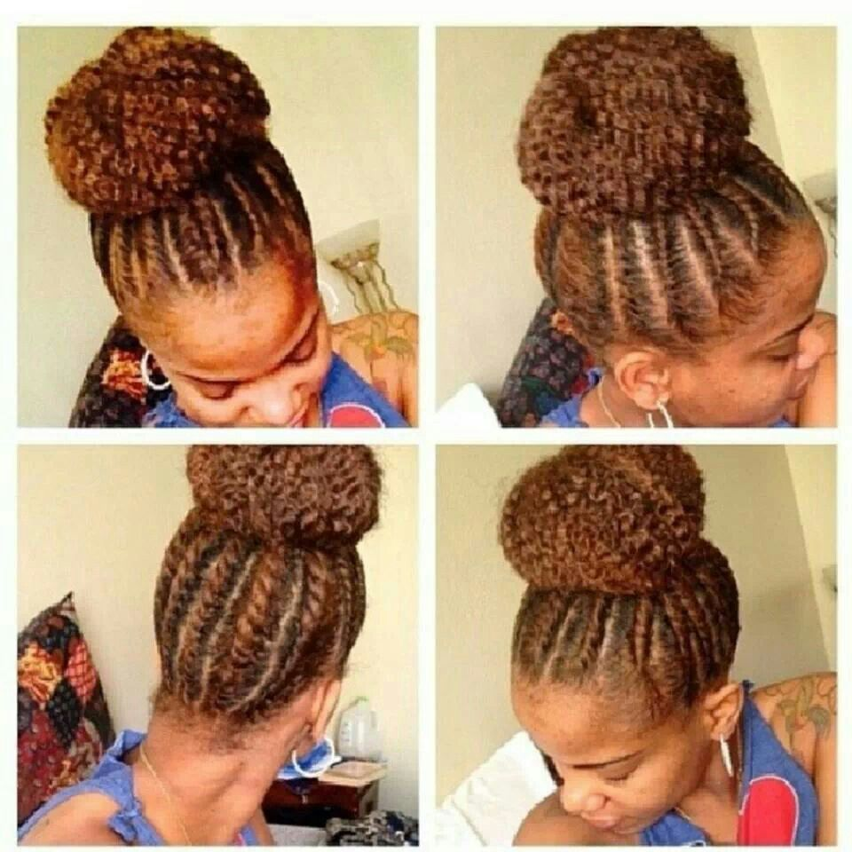Love This Flat Twist High Bun!! Can't Wait Til My TWA Gets Long
