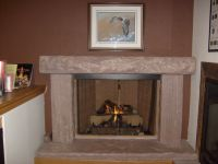 fireplace mantel | from Jasper stone, a rare rose-colored ...