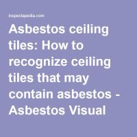 Asbestos ceiling tiles: How to recognize ceiling tiles ...
