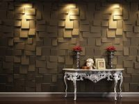 Contemporary 3d Wallpaper With Lighting Decoration On Wall ...