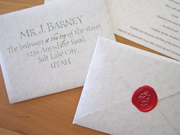 Acceptance Harry Letter Potter Envelope Template
