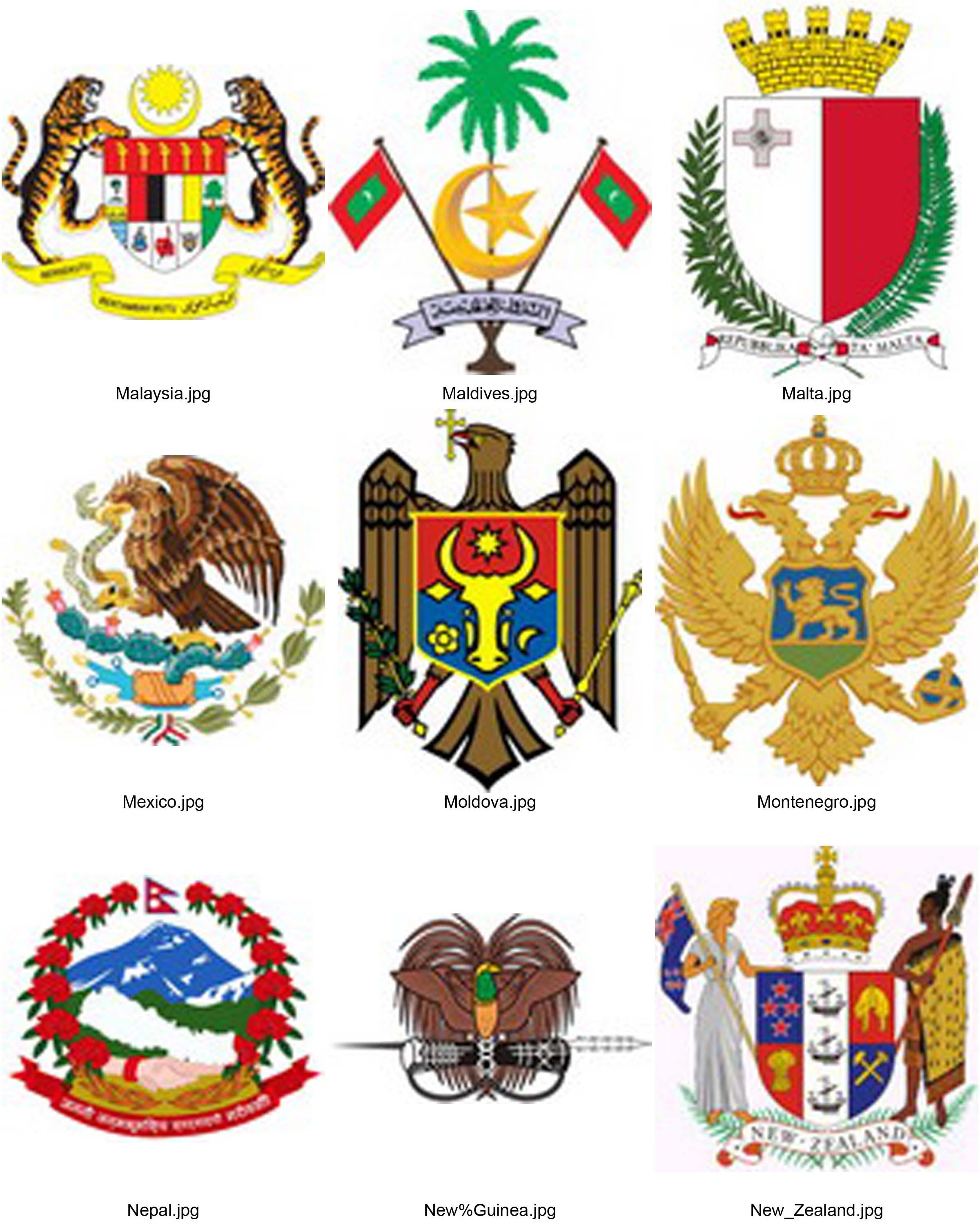 National Emblem S Of The World Country