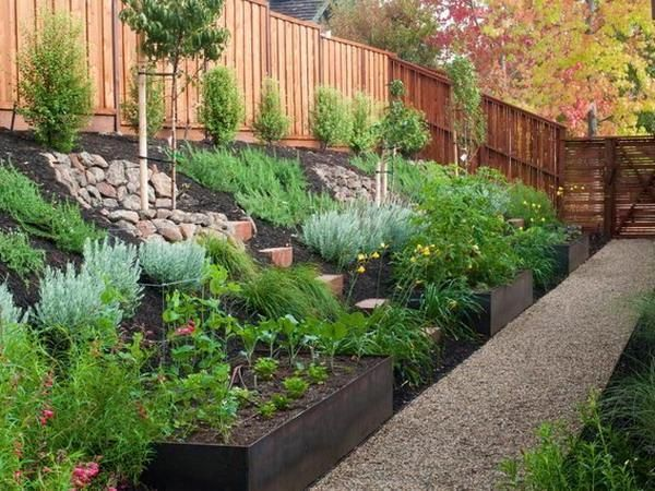 landscape design ideas sloped backyard