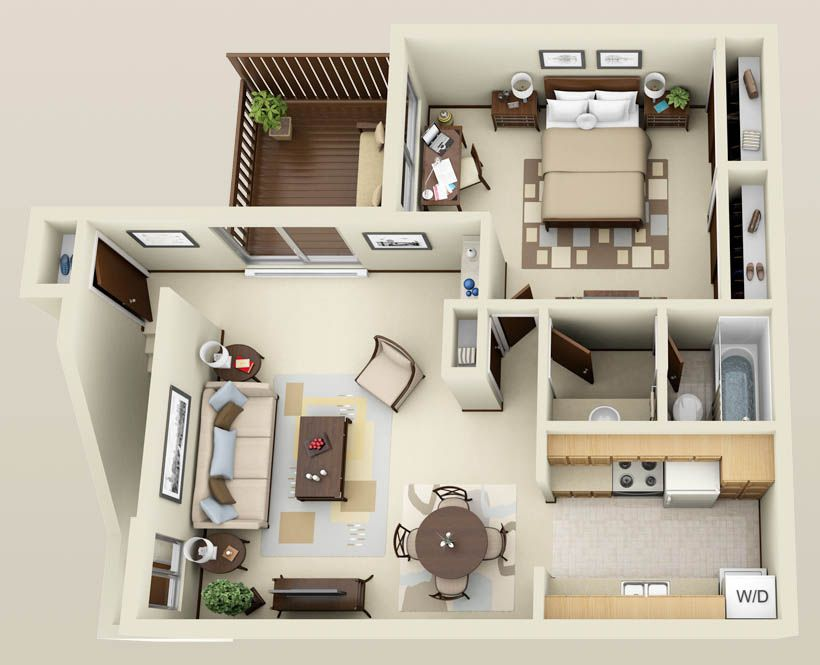apartment 3d floor plans  Google Search  Interior