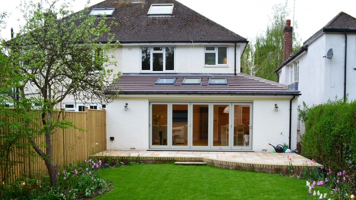 1950s Family Home Wrap Around Extension Herts Kitchen Structure
