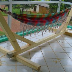 Chair Hammock Stand Plans Gold Covers Indoor And Outdoor Woodworking Wood