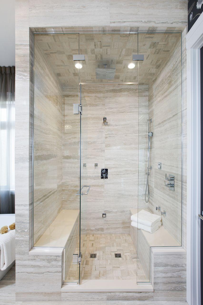 Double bench master steam shower