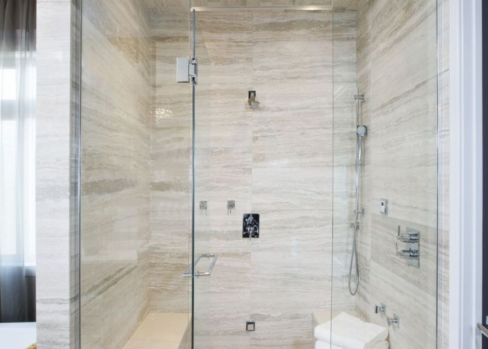 Bathroom steam shower double bench master atmosphere id also mama pinterest showers au