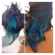 vibrant teal. achieved mixing