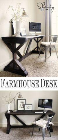 Farmhouse Style Bedroom Desk | DIY & Crafts | Pinterest ...