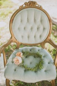 Vintage chair...love the soft cushiony look and the gentle