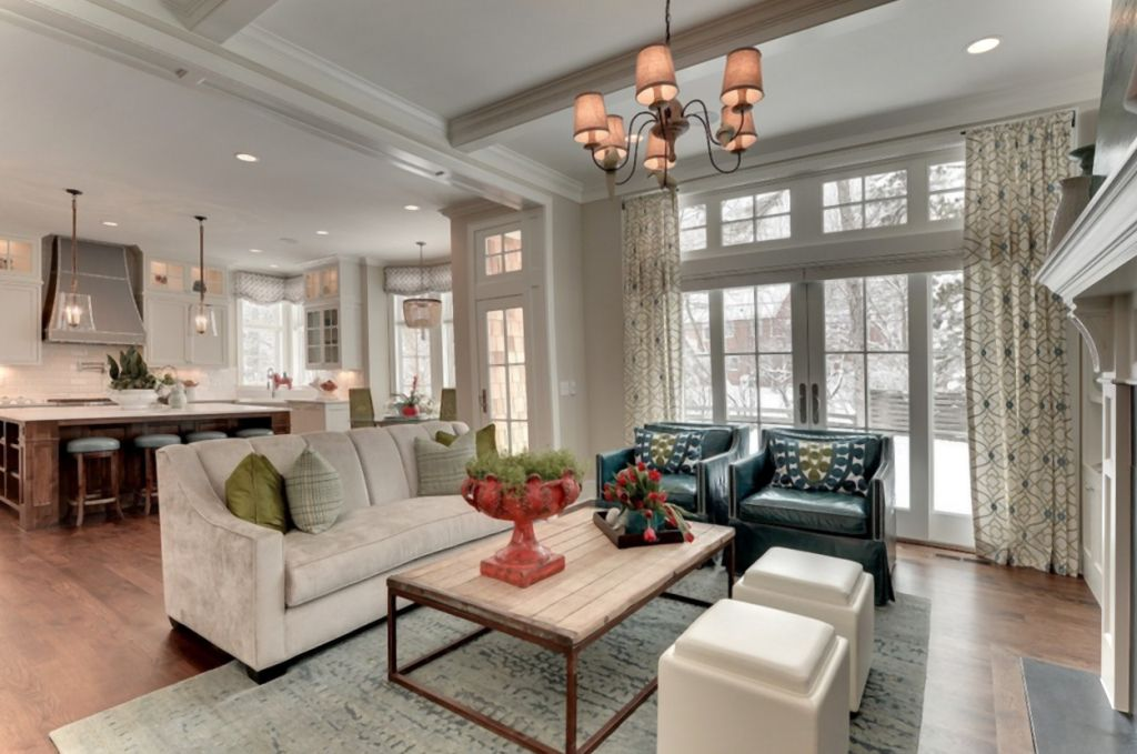 Is it too perfect to live in? Beautiful and Cozy Living Room with Kitchen Combo   Living ...