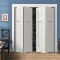 Stylish Bifold Closet Doors: Beautiful White Wood Closet