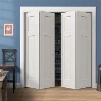 Stylish Bifold Closet Doors: Beautiful White Wood Closet ...