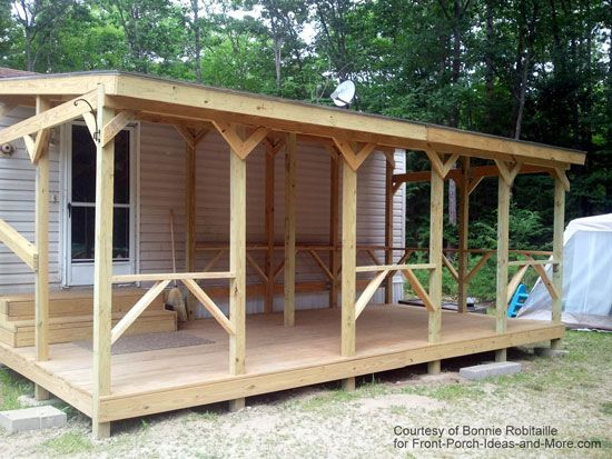 Mobile Home Porch On Pinterest Mobile Home Addition Mobile Home Exteriors And Mobile Home