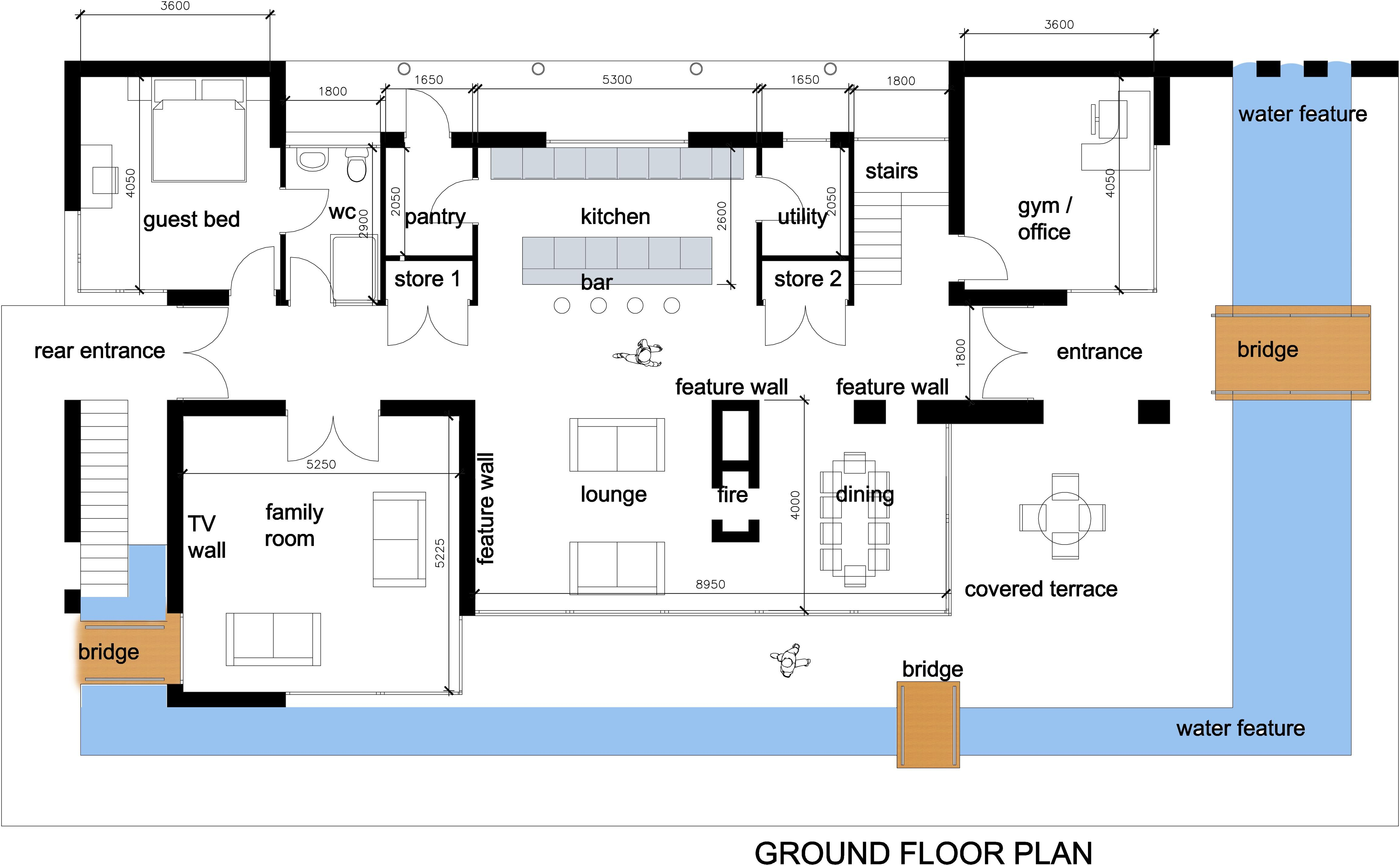 Home Plan Modern Design House Design Ideas Pinterest House