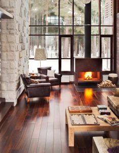Comfortable home interior for the winter villa brilliant ruben dishdishyan house decor living room idea with wooden floor and fireplace design also love wood spaciousness that pinterest dream rh