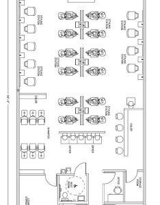 Beauty salon floor plan design layout square foot also esthetics facial spalayouts plans  spa rh pinterest